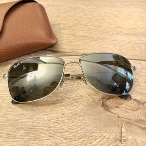 59mm Men's Silver Chromance Aviator
